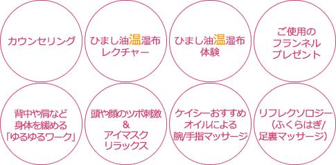 ひまし油(温熱湿布)セラピー/デトックスコース
